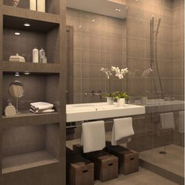 Contemporary-bathroom-with-tile-shower-mosaic
