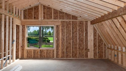 wooden interior of a custom build home addition in calgary