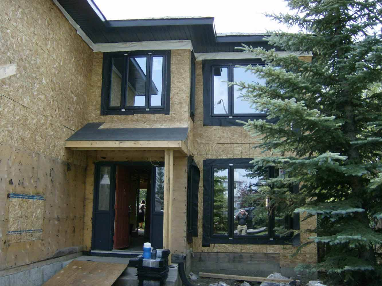 Exterior being renovation for home addition in Calgary by Interiors with Elegance
